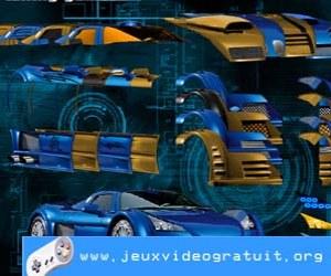 Jeu voiture bleu